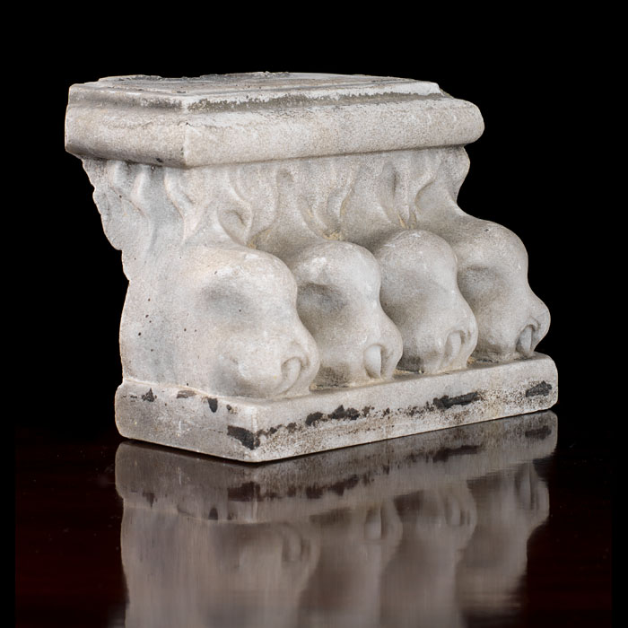 A Neoclassical style lion paw sculpture