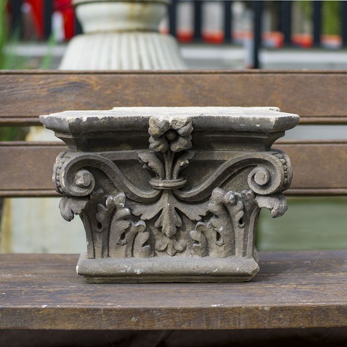 A 19th century carved limestone capital