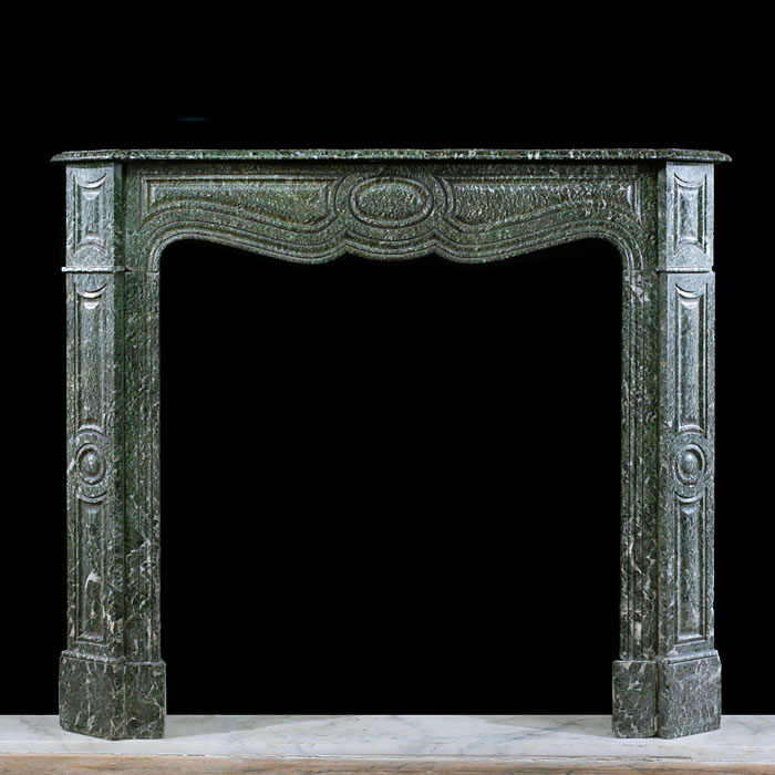 A French Pompadour Campan Vert chimneypiece