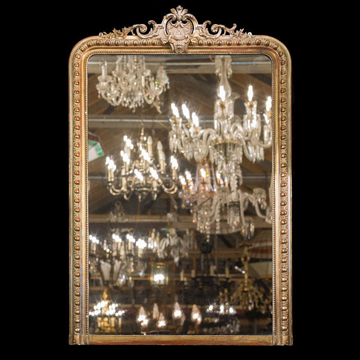 19th Century Giltwood Overmantel Mirror