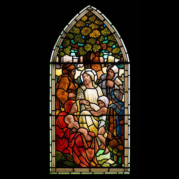 Antique Arts and Crafts Window by J. Eadie Reid, 1915.
