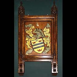 A Painted Victorian Armorial Wall Panel /h1>