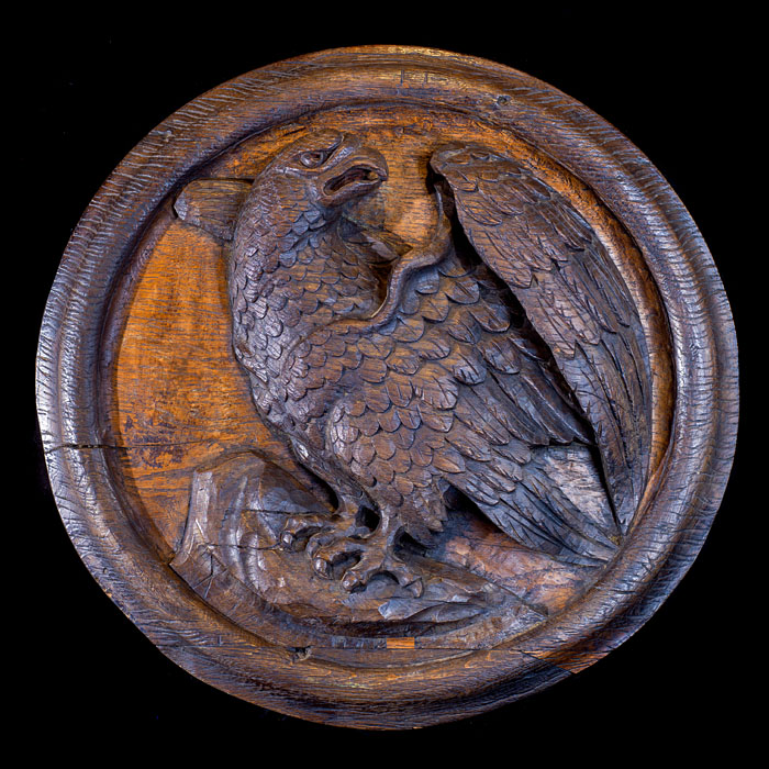 An Antique carved Golden Eagle Roundel