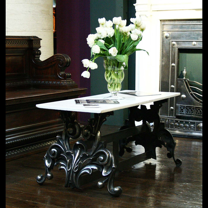 Victorian cast iron Belle Epoque coffee table bases