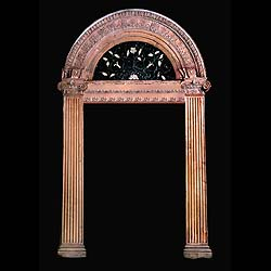 A George III antique pine door surround
