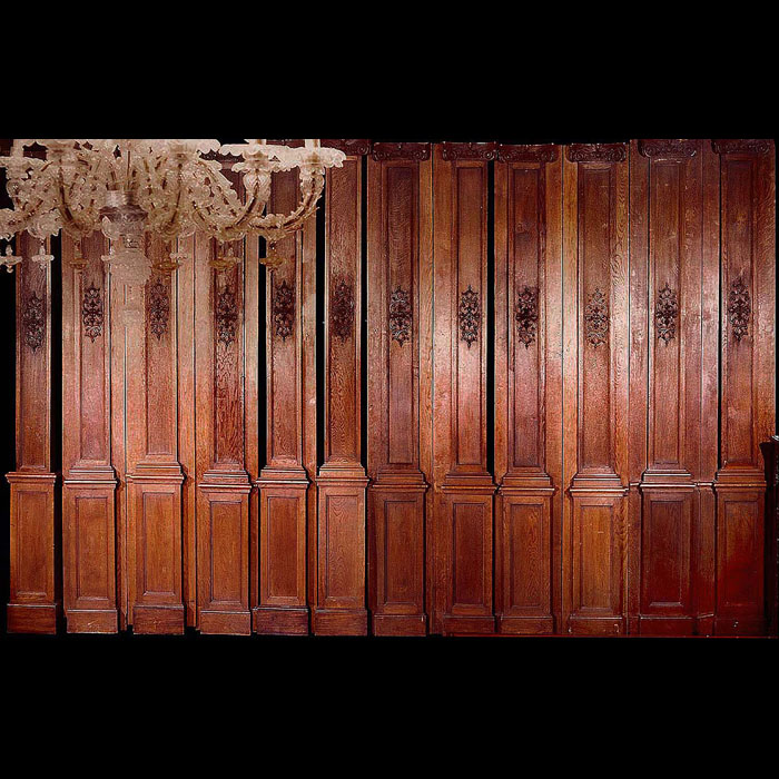 A Suite of French Louis XV Oak Panelling