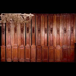 A suite of French antique oak panelling