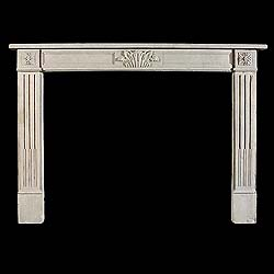 An Antique Louis XVI Limestone Chimneypiece Mantel