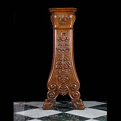 Antique Greek Revival Walnut Plinth decorated with Pegasus