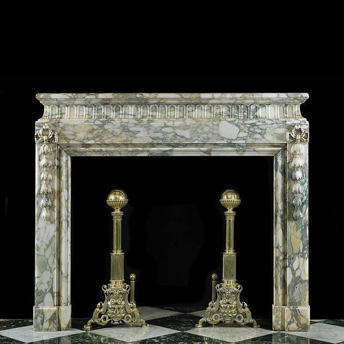 Antique Bolection de Versailles Louis XIV Marble Chimneypiece