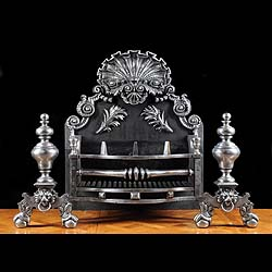 A large 20th century replica Baroque style Fire Grate