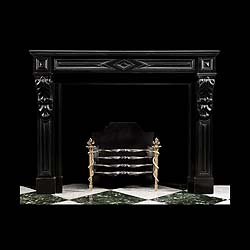 6575 - French black marble Chimneypiece with corbels.