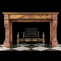 6576 - Regency French Brocatelle Marble Fireplace | Westland Antiques