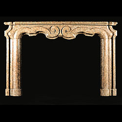A 20th century Baroque style marble Bolection
