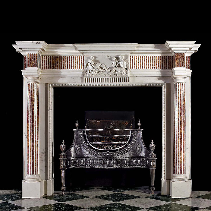 An Irish Georgian antique marble Fireplace surround