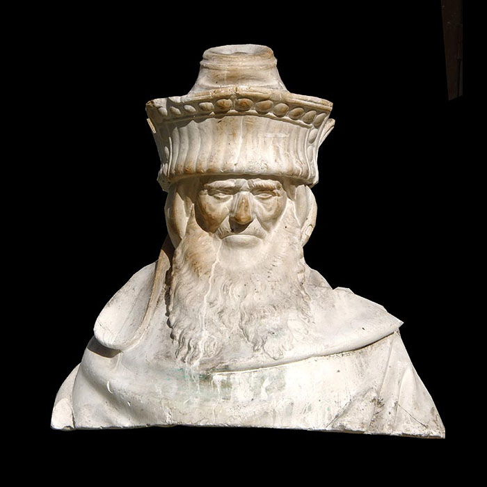 7358: A plaster bust of Zachariah probably cast in the late 19th century from the original monumental  'Well of Moses' sculpture by the Dutch artisan Claus Sluter ( 1395 - 1405 )  for the Carthusian monaste