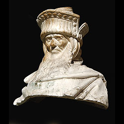 An antique plaster bust of Zachariah cast from the 'Well of Moses' in the late 19th century
