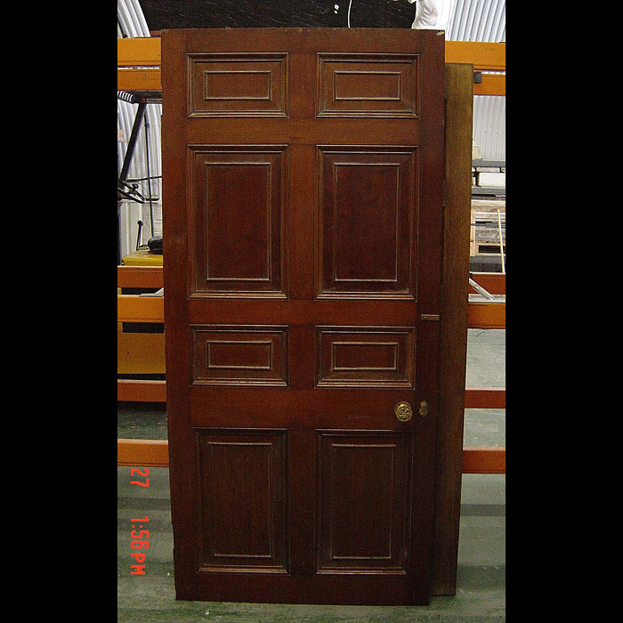 7389: Late 19th century mahogany 6 panel single door.  Link to: Antique Doors and Windows.