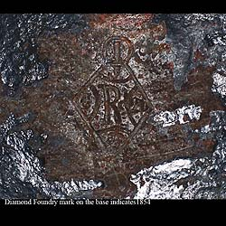 An Antique Coalbrookdale cast iron 'Cosette' figure of a young girl