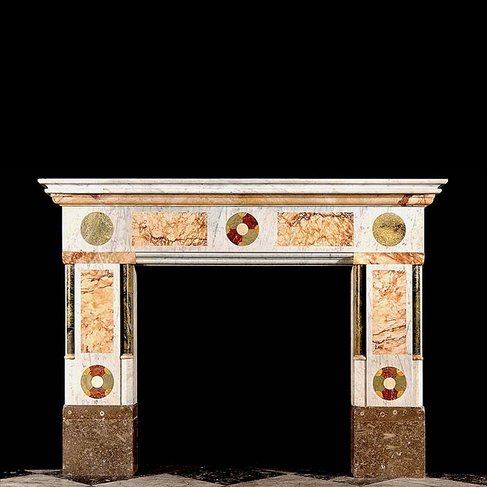 Arts & Craft specimen marble antique chimneypiece
