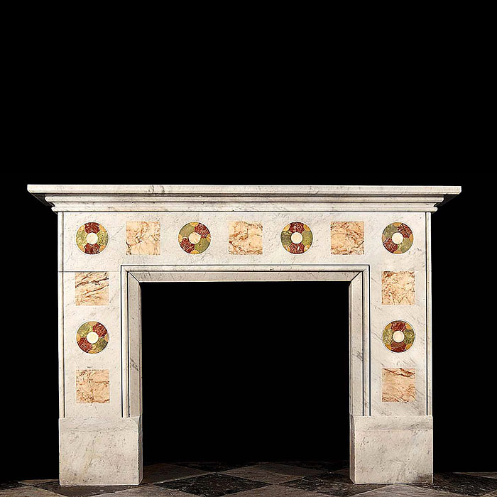 A specimen marble Arts & Crafts antique chimneypiece