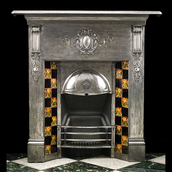 A Victorian cast iron Antique Fireplace Mantel