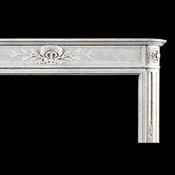 One of a near Pair of Louis XVI Carrara Marble Antique fireplace mantels