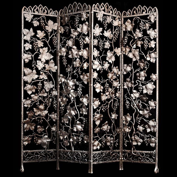 French wrought iron embossed screen