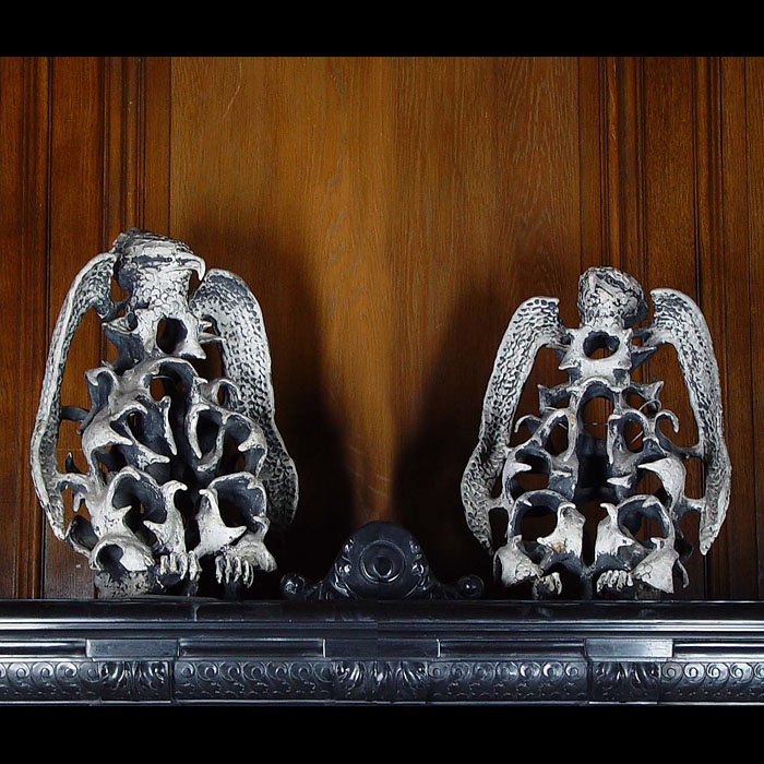 7605: A PAIR OF UNUSUAL TERRA COTTA STYLISED EAGLE WALL LIGHTS,  in the manner of Salvador Dali. Italian or Spanish, circa 1930.  Link to: Antique sculptures, carvings, plaques, tablets, coats of arms and p