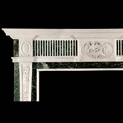 Georgian style antique marble fireplace surround