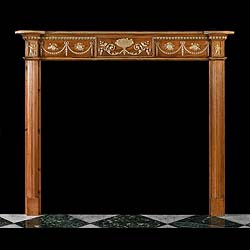 An Adam Style Carved Pine Fire Surround