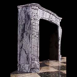 Antique Louis XVI marble fireplace in the Rococo style