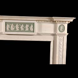A 19th century Georgian style antique marble chimneypiece