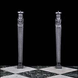 Cast Iron pair of Regency columns