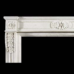 A Louis XVI Statuary Marble Antique Chimneypiece Mantel