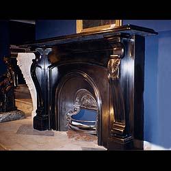 The Batman Antique Black Marble Fireplace Mantel