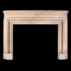Belgravia Botticino Marble Bolection Fireplace