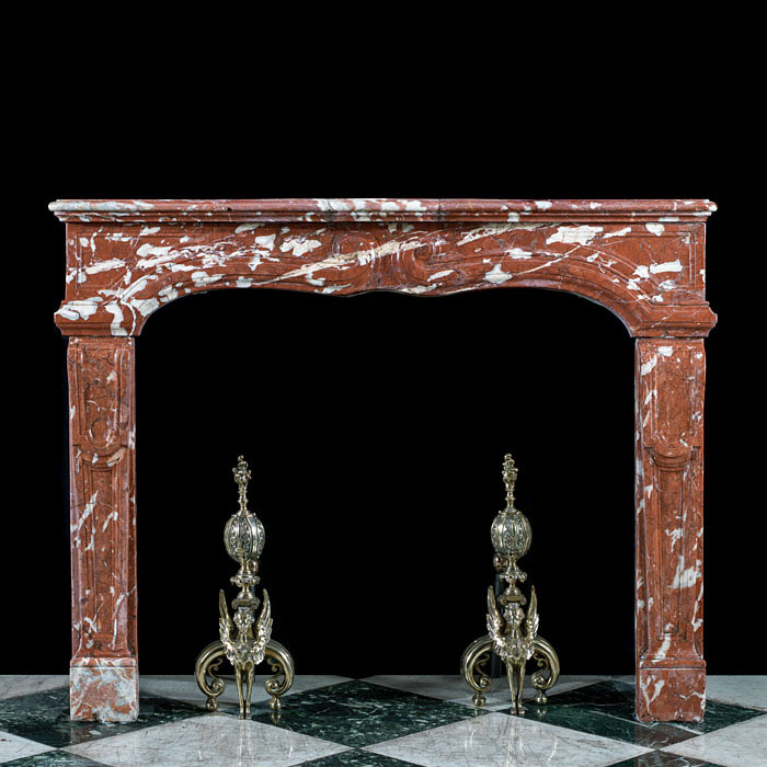 A Louis XIV Languedoc Marble 19th century fireplace mantel