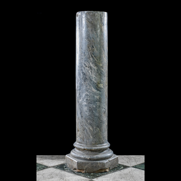 A tall Scagliola column plinth