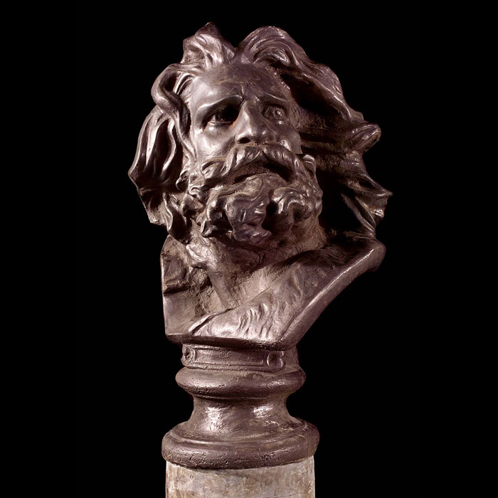 A cast iron bust of Laocoon