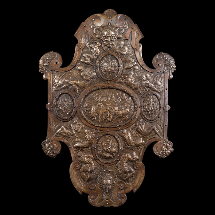 A nickel plated Renaissance style plaque