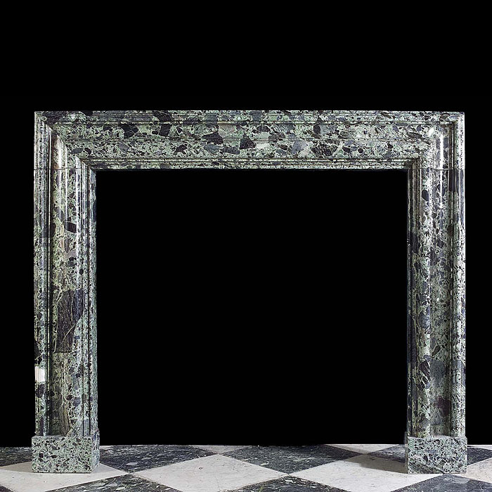 A 19th century Green Marble Bolection Chimneypiece