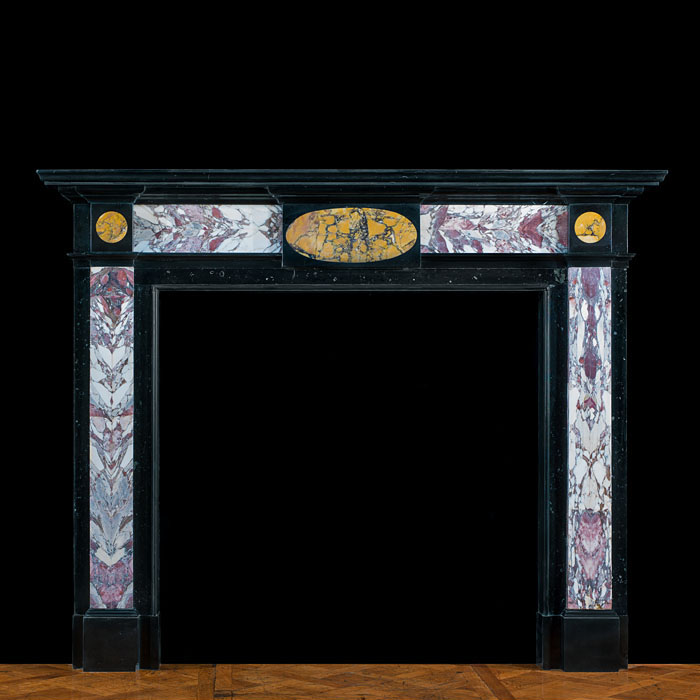 8232 - English Regency antique marble fireplace surround.