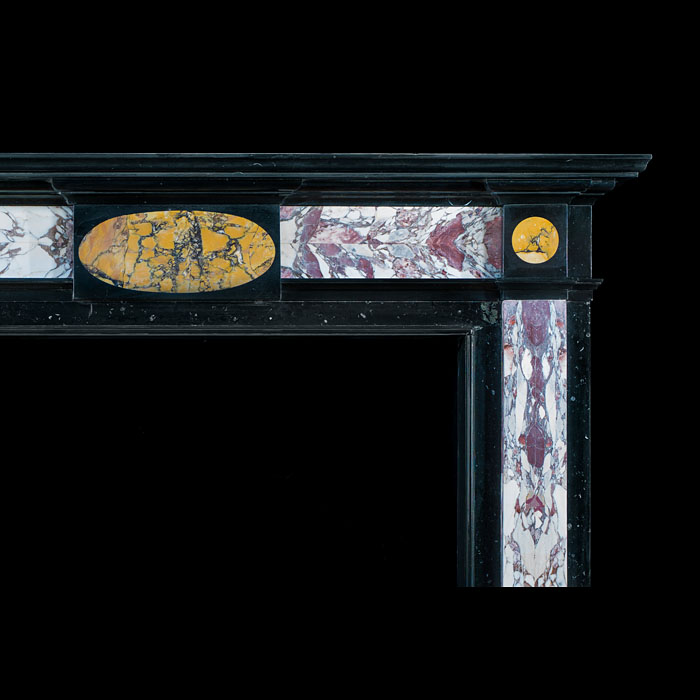 An English Regency Specimen Marble Antique Chimneypiece Mantel