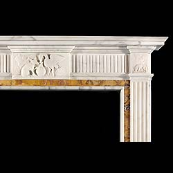 An Antique George III style statuary & siena chimneypiece
