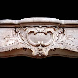 A very fine and large Rococo style antique chimneypiece