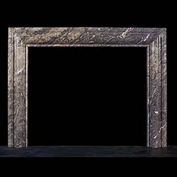 Antique Grey and Red Ashburton Bolection Marble Fireplace