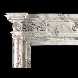 Antique Pavonazza Marble Palladian Revival Chimneypiece