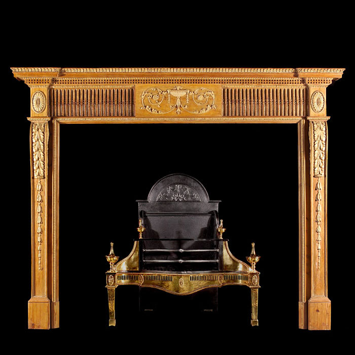 A Pine Neoclassical Style Chimneypiece