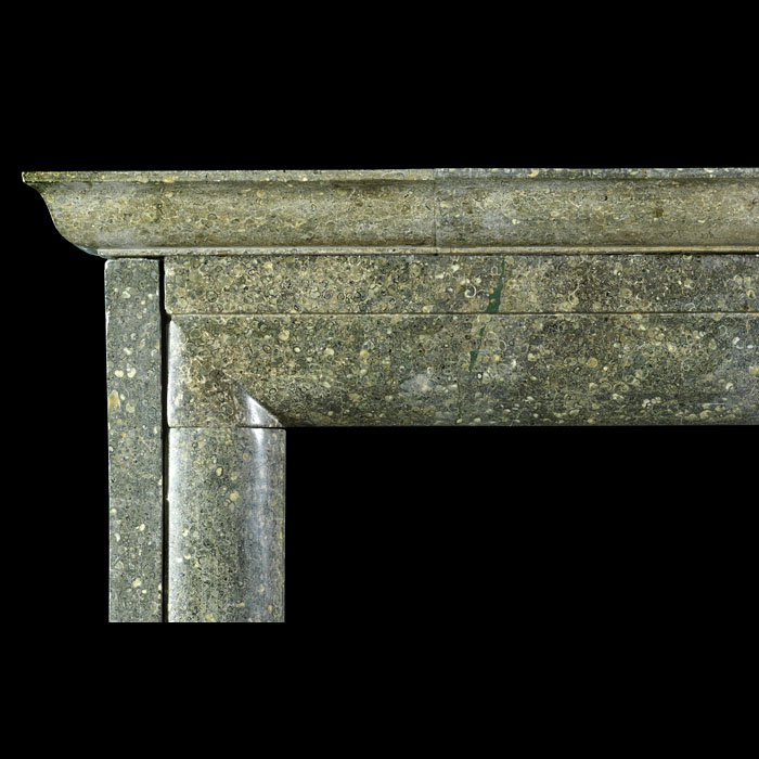 Antique Bolection fireplace in Fossil Purbeck Green Marble